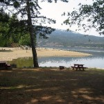 A view of Comox Lake from the Cumberland Lake Park campground