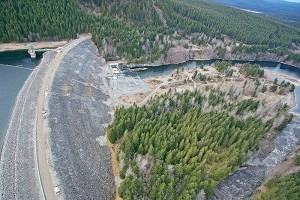 The Strathcona Dam (picture here) and the John Hart Dam will receive seismic upgrades with hundreds of millions of dollars starting in 2018.