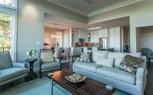 The Gales offers spacious indoor living with spectacular ocean and mountain views.
