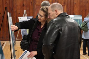 Residents stop by the second open house for the Comox Vallry Regional District's south region Liquid Waste Management Plan to learn more about options being considered for wastewater management.