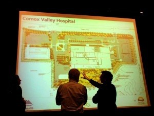 Participants at a NIHP community information session in the Comox Valley