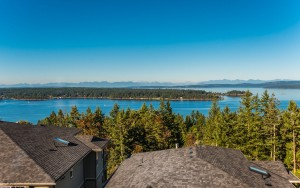 This home at #9-626 Farrell Road at The Gales in Ladysmith offers ocean and mountain views from both levels.