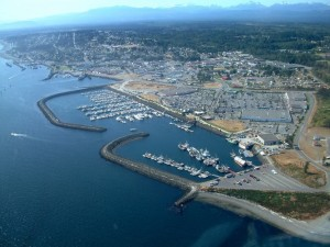An aerial view of the City of Campbell River. City council approved several infrastructure projects in the 2015 budget.