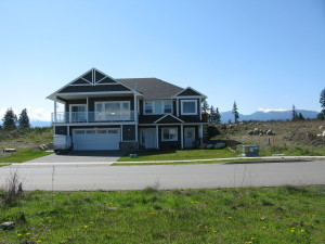 A custom built home at The Ridge in Courtenay on Vancouver Island, with mountain views.