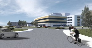This is an artist's rendition of the new Comox Valley hospital currently under construction at the intersection of Ryan Road and Lerwick in Courtenay.