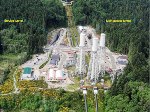 This photo of the John Hart Dam Generating Station replacement project shows some of the work currently happening onsite. Photo supplied by BC Hydro.