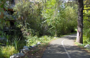 The bike and pedestrian path along the Courtenay River is currently closed between 19th and 20th Streets while site clearing and other work occurs for a land exchange that will extend Riverside Lane.