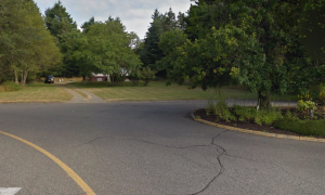 This snapshot from Google Street View shows the site of Vista Housing Society's proposed affordable housing project for seniors in Comox.