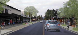 This artist's rendition imagines a complete street in downtown Courtenay. The City is hosting a public information session to collect input for the conceptual design of the Complete Streets pilot project.