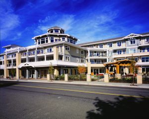 A building permit has been issued and construction begun on the expansion at the Berwick Retirement Facility in Comox.
