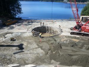 This photo shows excavation for Phase 1 of the City of Campbell River's water supply project. Bid results for Phase 2 - the Water Treatment Building - are expected November 21.