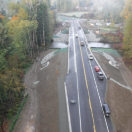 Editor's Note October 25, 2071: New bridge and connector from the inland Island Highway to Courtenay is now open