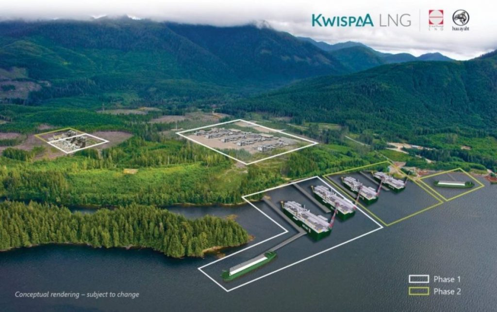 Photo proposed Kwispaa LNG project