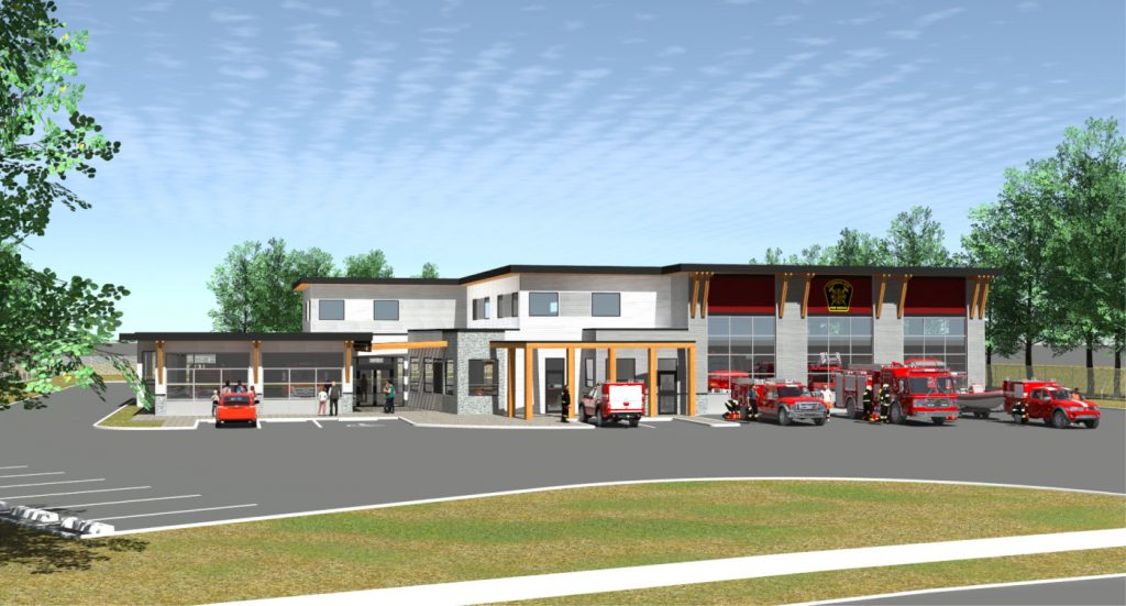 Design Drawing of Cumberland Fire Hall Project