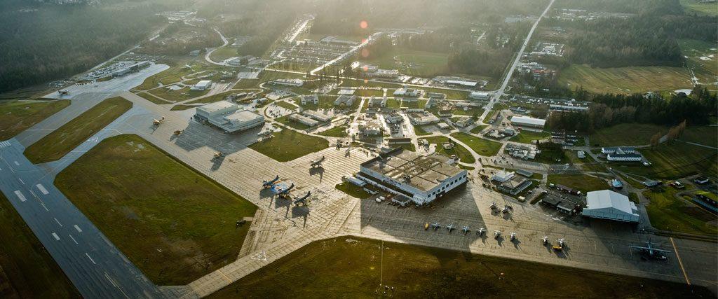 Aerial photo CFB Comox
