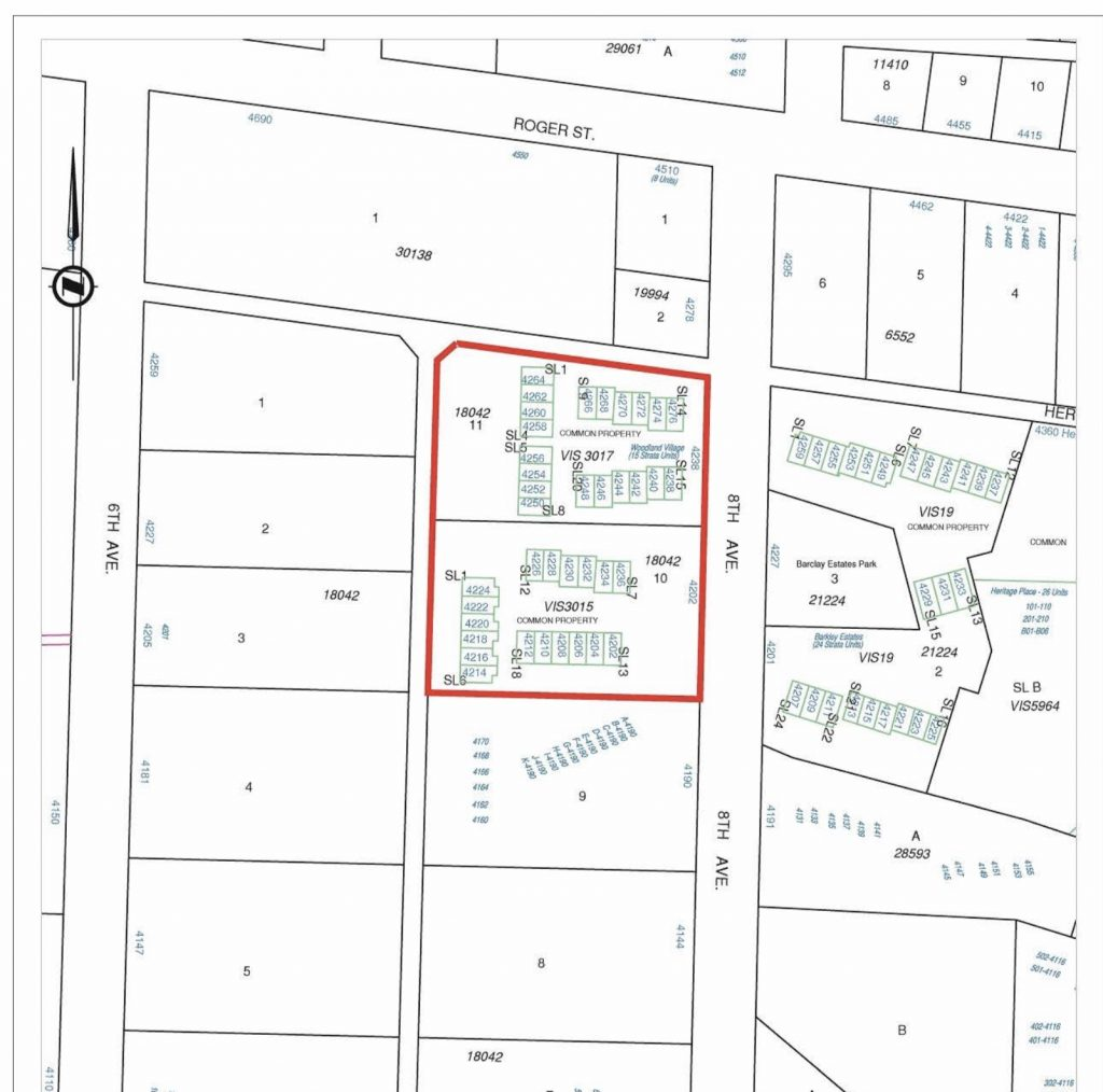 City of Port Alberni residential lot map