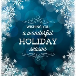 Wishing you a Happy and Safe Holiday Season